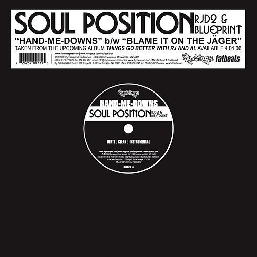 Hand-Me-Downs - Single by Soul Position