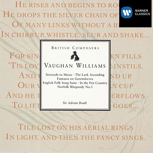 Serenade To Music Etc Boult by Ralph Vaughan Williams