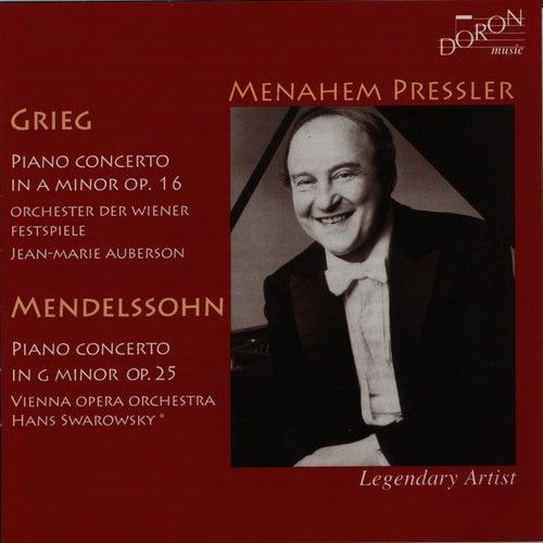Play & Download Grieg & Mendelssohn: Piano Concertos by Menahem Pressler | Napster