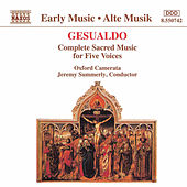 Complete Sacred Music for Five Voices by Don Carlo Gesualdo