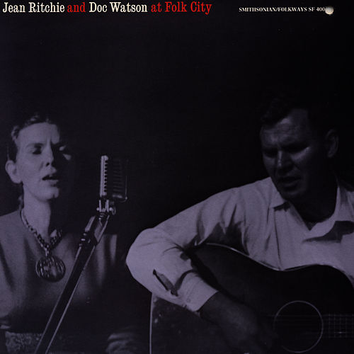 Jean Ritchie And Doc Watson At Folk City by Jean Ritchie