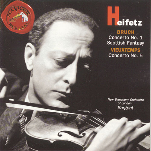 Play & Download Bruch/ Vieuxtemps: Concertos by Jascha Heifetz | Napster