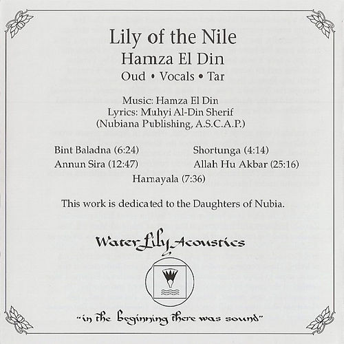 Play & Download Lily of the Nile by Hamza El Din | Napster
