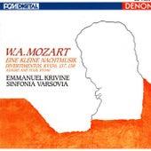 W.A. Mozart: Eine Kleine Nachtmusik, Divertimentos & Adagio and Fuge by Emmanuel Krivine