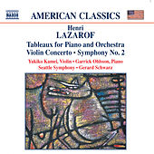 LAZAROF: Tableaux / Violin Concerto / Symphony No. 2 by Various Artists
