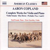 Complete Works For Violin and Piano by Aaron Copland