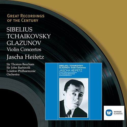 Play & Download Sibelius, Tchaikovsky, Glazunov: Violin Concertos by London Philharmonic Orchestra | Napster