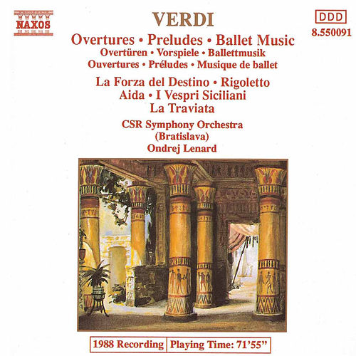 VERDI: Overtures / Preludes / Ballet Music by Slovak Radio Symphony Orchestra