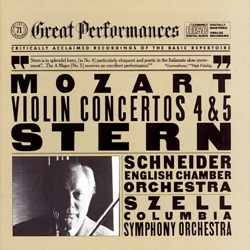 Play & Download Mozart:  Violin Concertos Nos. 4 & 5 by Isaac Stern | Napster