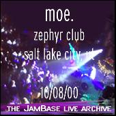 10-08-00 - Zephyr Club - Salt Lake City, UT by moe.