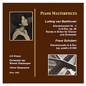 Play & Download Piano Masterworks: Lili Kraus Ludwig van Beethoven: Piano Concerto Nr. 4 in G Major, op. 58 Franz Schubert: Piano Sonata in A-Major (op.posth.) (D.959) (Recordings 1959) by Lili Kraus | Napster