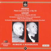 Brahms: Piano Concerto No. 2 - Mozart: Concerto for Three Pianos by Robert Casadesus