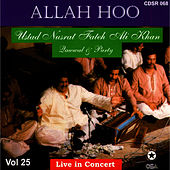 Play & Download Allah Hoo - Live in Concert Vol. 25 by Nusrat Fateh Ali Khan | Napster
