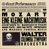 Mozart:  Eine Kleine Nachtmusik; Opera Overtures; Masonic Funeral Music by Bruno Walter; Columbia Symphony Orchestra