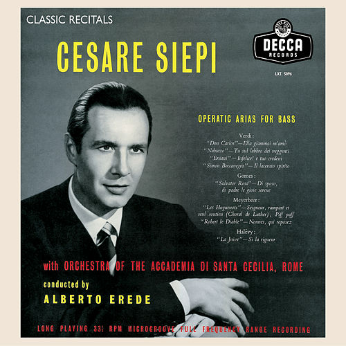 Cesare Siepi: Operatic Arias for Bass by Cesare Siepi