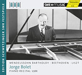 Piano Recital 1988 by Jorge Bolet