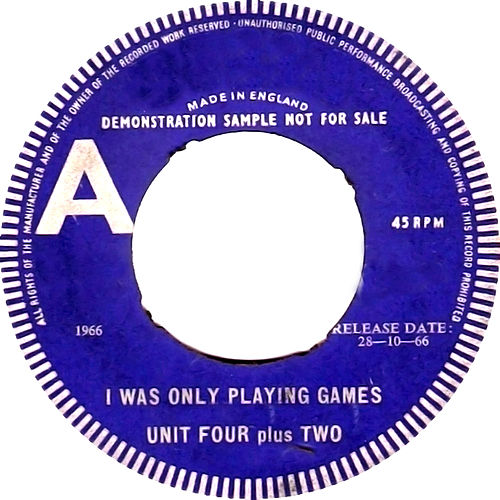 Play & Download I Was Only Playing Games by Unit Four Plus Two | Napster