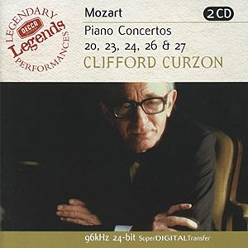 Mozart: Piano Concertos Nos.20,23,24,26 & 27 by Sir Clifford Curzon