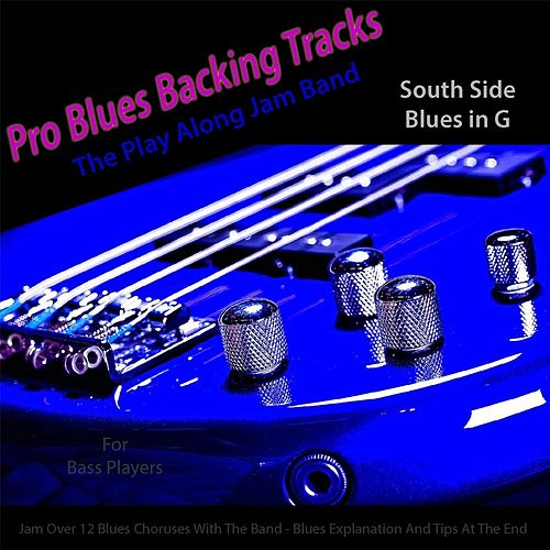 Pro Blues Backing Tracks (South Side Blues in G) [12 Blues Choruses With Tips for Bass Players] by The Play Along Jam Band