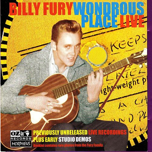 'A Wondrous Place' Live plus Rare Early Demo Recordings by Billy Fury