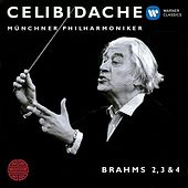 Play & Download Brahms: Nos. Symphonies 2 - 4 by Sergiu Celibidache | Napster