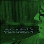 Maybe I'm Not Meant to Do Anything Remarkable After All by Henning Ohlenbusch