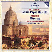 Play & Download Palestrina: Missa Papae Marcelli / Allegri: Miserere by Westminster Abbey Choir | Napster