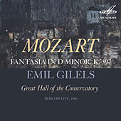 Play & Download Mozart: Fantasia in D Minor, K. 397 (Live) by Emil Gilels | Napster