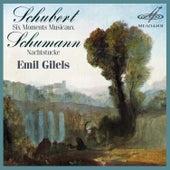 Play & Download Schubert: Moments Musicaux - Schumann: Nachtstücke by Emil Gilels | Napster