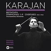 Play & Download Beethoven: Symphonies Nos 1-9 & Overtures by Herbert Von Karajan | Napster