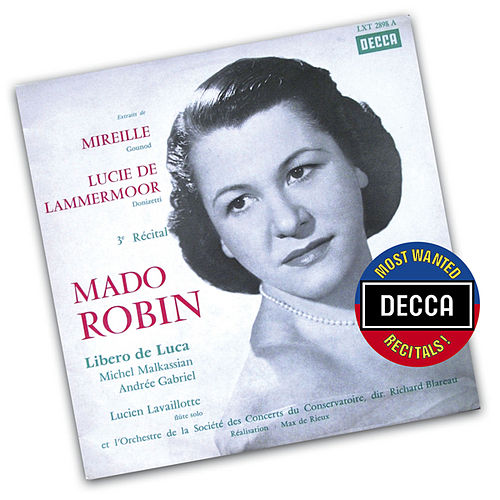 Mado Robin-Extracts From 'Mireille' & 'Lucia Di Lammermoor' by Mado Robin