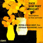 Play & Download Transcriptions for Flute & Guitar: Bach / Schubert / Mozart by Konrad Ragossnig | Napster