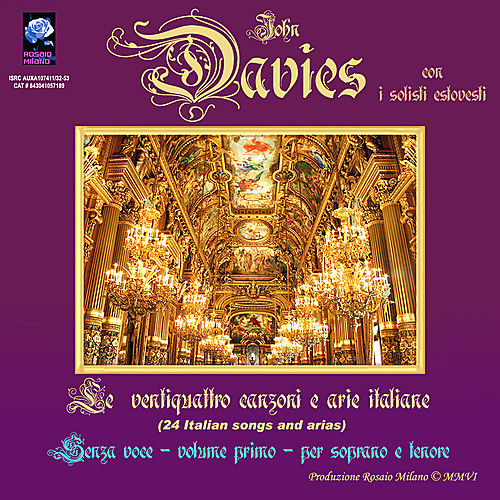Play & Download 24 Italian Songs and Arias - Backing Tracks - Volume 1 - High Keys by John Davies | Napster