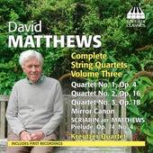 Matthews: Complete String Quartets, Vol. 3 by Kreutzer Quartet