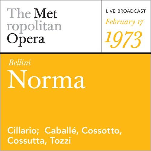 Bellini: Norma (February 17, 1973) by Vincenzo Bellini
