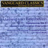 Beethoven: Symphonies 3 & 5, Leonore Overture and Coriolan Overture by Adrian Boult