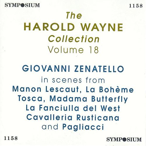 Play & Download The Harold Wayne Collection Vol. 18 by Giovanni Zenatello | Napster