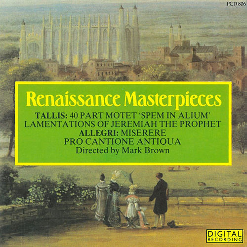Play & Download Renaissance Masterpieces by Pro Cantione Antiqua | Napster