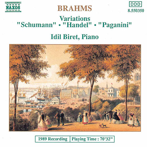 Play & Download Variations: 'Schumann', 'Handel', 'Paganini' by Johannes Brahms | Napster
