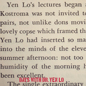 Days With Dr. Yen Lo by Dr. Yen Lo
