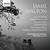 Play & Download Glazunov: Conerto Ballata, Prokofiev: Concertino & Tchaikovsky: Variations on a Rococo Theme by Jamie Walton | Napster