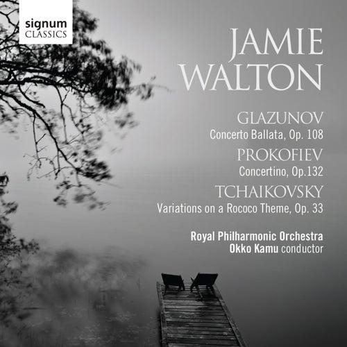 Play & Download Glazunov: Conerto Ballata, Prokofiev: Concertino & Tchaikovsky: Variations on a Rococo Theme by Jamie Walton | Napster