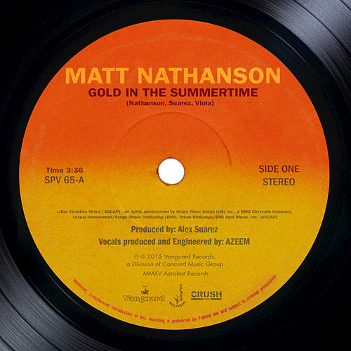 Gold In The Summertime by Matt Nathanson