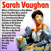 Play & Download Sarah Vaughan - The Best Of by Sarah Vaughan | Napster