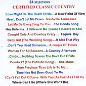 24 Selections of Certified Classic Country by Various Artists