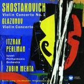 Shostakovich: Violin Concerto No. 1 - Glazunov: Violin Concerto by Itzhak Perlman