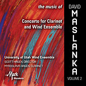 Play & Download The Music of David Maslanka, Vol. 2: Concerto for Clarinet & Wind Ensemble by Various Artists | Napster