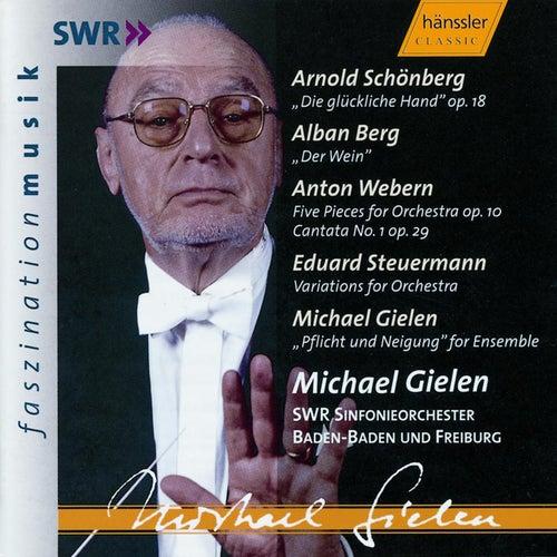 Play & Download Arnold Schönberg: 'Die glückliche Hand' op. 18 & Orchestral Works by A. Berg, A. Webern, E. Steuermann, M. Gielen by Runfunkorchester Berlin | Napster