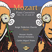 Play & Download MOZART: Piano Concertos Nos. 14, 23, 25 by Jorge Federico Osorio | Napster