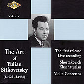 Play & Download SITKOVETSKY, Yulian: Art of Yulian Sitkovetsky (The), Vol. 5 by Yulian Sitkovetsky | Napster